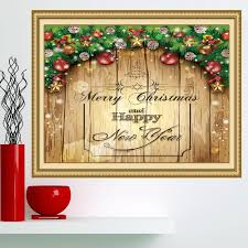 merry christmas decorations printed multifunction wall art