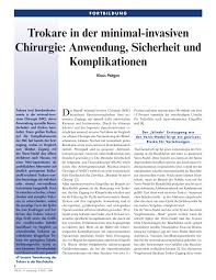 Gute Und G Stige K Hen Trokare In Der Minimal Invasiven Chirurgie Anwendung Sicherheit