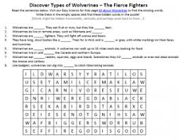 wolverines download free science worksheet printables for first