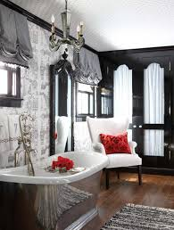 black and silver bathroom ideas black and white with a shiny silver tub are the