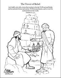 tower babel coloring catholic kids coloring pages