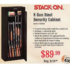 stack on 8 gun cabinet stack on 8 gun steel security cabinet 89 99 sportsman s warehouse