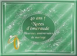 40 ans de mariage 40 ans de mariage noce de mariage