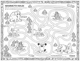 wooly mammoth coloring page funycoloring