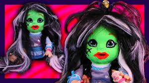 monster high halloween dolls frankie stein custom baby alive monster high doll eats play doh