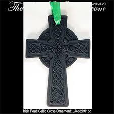 ornament peat celtic cross