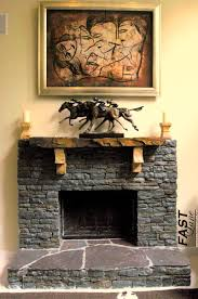 Fireplace Mantel Shelf Designs by Pleasing Black Stone Fireplace Mantel By Elegant Wooden Shelf