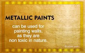 metallic paint for walls