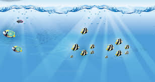 free underwater fishes backgrounds for powerpoint animal ppt