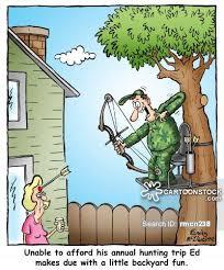 Backyard Cartoon Funny Hunting Cartoon Bow