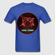 Drum Set Lights Neon Lights Drum Set Make Music T Shirt Spreadshirt