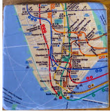 Nyu Map Nyc Subway Map Coasters Gift Man