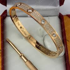cartier bracelet diamond images Cartier love bracelet diamond paved pink gold diamonds n6036917 jpg