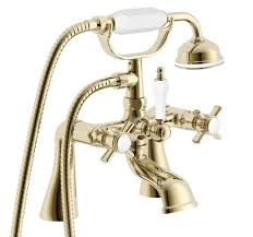 100 shower from bath taps showers bathrooms bathroom suites shower from bath taps cooke lewis classic gold effect bath shower mixer tap