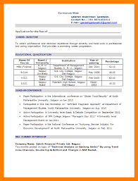Educational Qualification In Resume Format Resume Format For Mba Fresher Fancy Mba Resume Sample 14 Mba