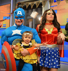 new york city halloween 2014 friends cohosts steve doocy as captain america and guest attend fox picture id458174084