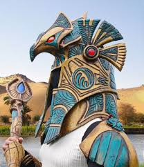 egyptian god stargate armor sci fi design