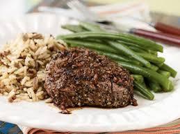 pepper u0026 garlic crusted tenderloin steaks u0026 port sauce recipe