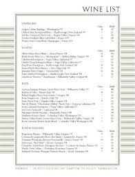 restaurant wine list template