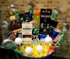 cool gift baskets how to make a masculine guys golf weekend gift basket