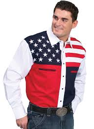 scully mens stars and stripes western shirt
