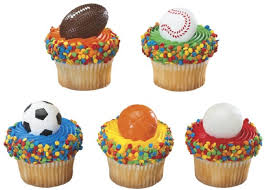 sports cake toppers on and the field sports team party supplies uniforms