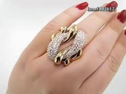 diamond cocktail rings diamond cocktail rings two tone designer diamond ring 5 6ct 18k