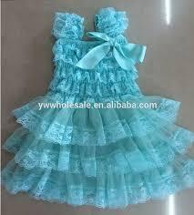 08 24pcs lot dhl free aqua ruffle lace chiffon flower dress baby