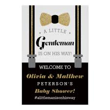 gentleman baby shower gentleman welcome sign poster baby shower zazzle