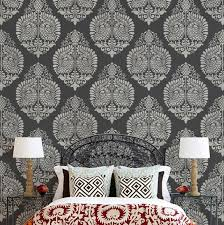 pattern paint roller online india indian annapakshi damask wall stencil royal design studio stencils