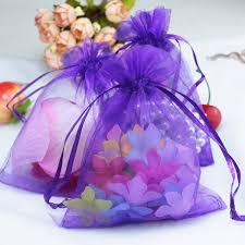 large organza bags wholesale 500pcs lot drawable purple large organza bags 15x20 cm