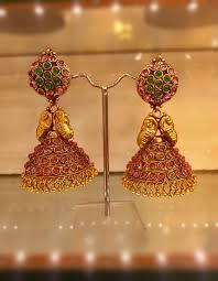 kerala style jhumka earrings earrings gold earrings delight gold earrings online