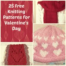 25 free knitting patterns for valentine u0027s day allfreeknitting com