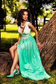 atmosphere rochii rochie eleganta de seara alb turquoise atmosphere rochii de