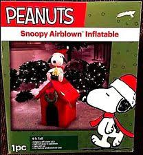 peanuts airblown inflatables christmas 7 5 snoopy on chopper peanuts airblown