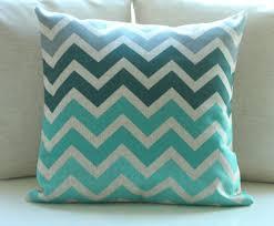 vintage cotton linen chevron cushion cover pillow case zigzag grey