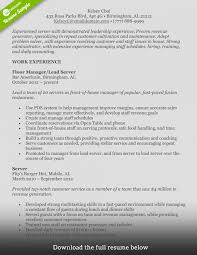 food service resume template how to write food service resume exles included foh