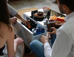 smart coffee table fridge sobro cooler coffee table gadget flow