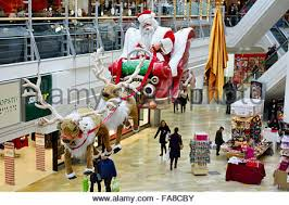 Santa Claus Christmas Decorations Uk by The Galleries Broadmead Shopping Centre In Bristol Uk Christmas