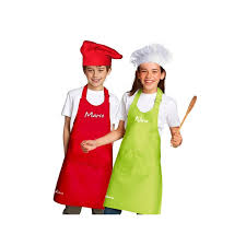 chef hat and apron kid set customized