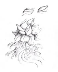 ideas easy flower tattoo designs how to draw a simple rose tattoo