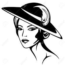 tableau portrait noir et blanc femme chapeau noir banque d u0027images vecteurs et illustrations