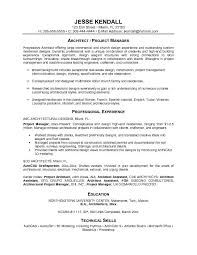 project architect sample resume project architect resume project