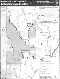Baxter State Park Map by Federal Register Establishment Of The Katahdin Woods And Waters