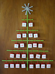 christmas advent calendar craft stick christmas tree advent calendar with origami boxes