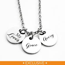 two name necklace engraved jewelry necklaces my two name necklace