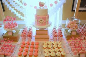pink and gold u201cabout to pop u201d dessert table