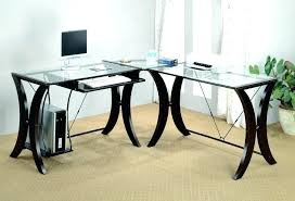 Black Glass L Shaped Desk L Shaped Black Computer Desk L Shaped Desk With Hutch Home Office