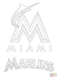 miami marlins logo coloring page free printable coloring pages
