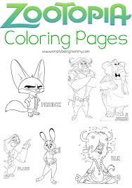 zootopia coloring pages simply being mommy